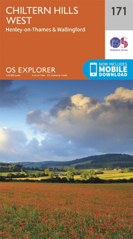 OS Explorer 171 - Chiltern Hills West, Henley on Thames & Wallingford